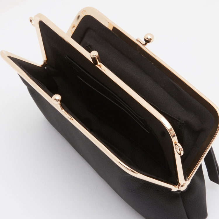 Textured Clutch with Snap Closure