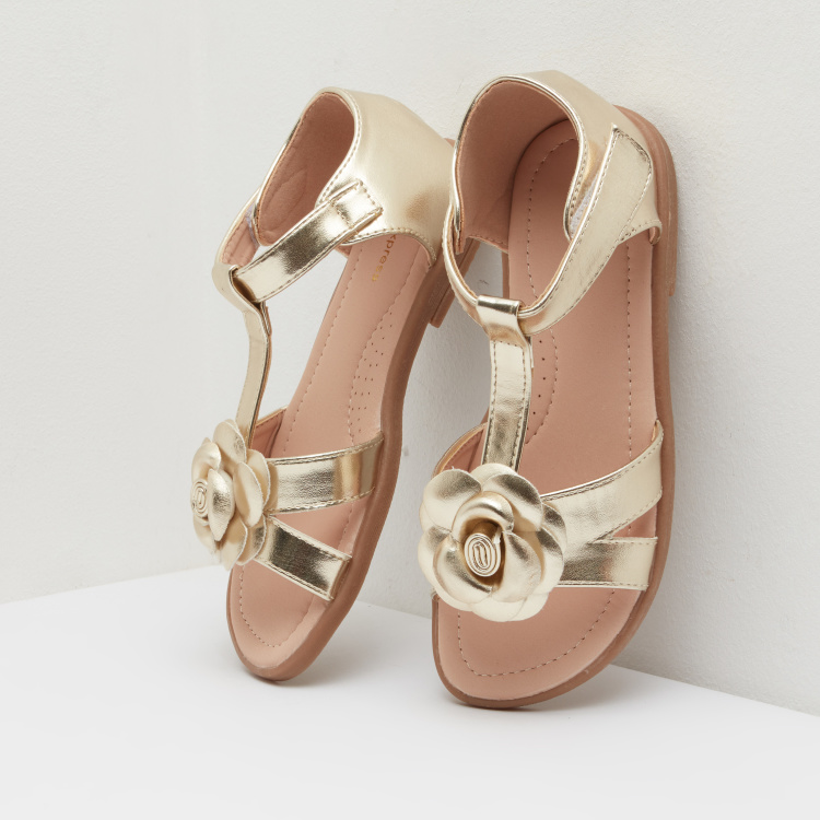 Ankle Strapped Sandals with Hook and Loop Closure