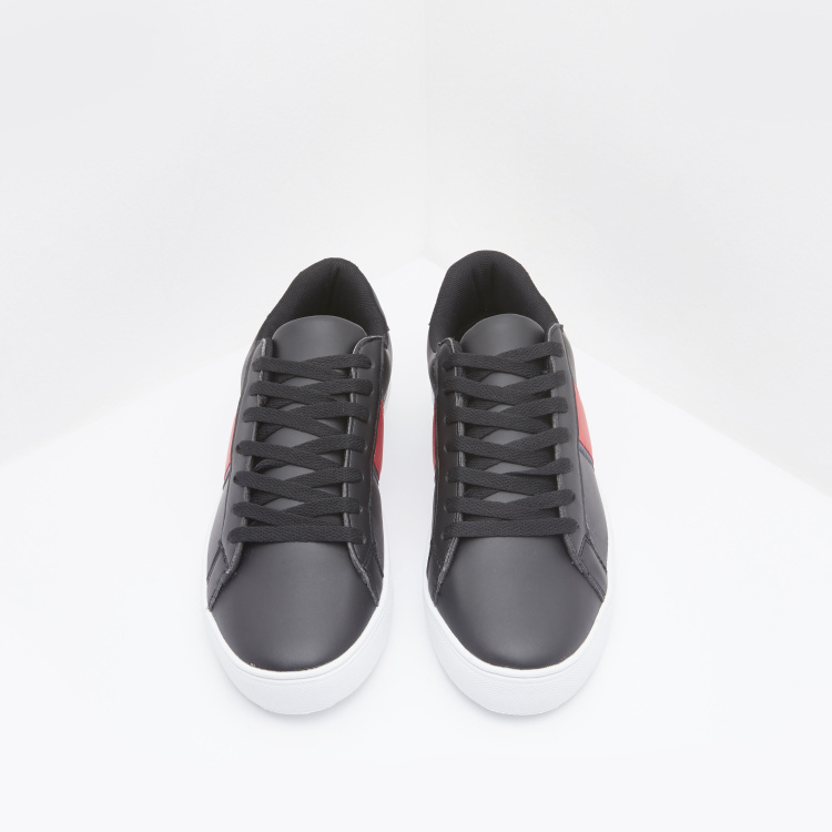 Low Top Sneakers with Lace Up Closure
