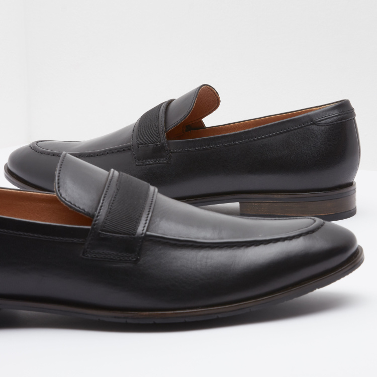 Panelled Slip-On Loafers