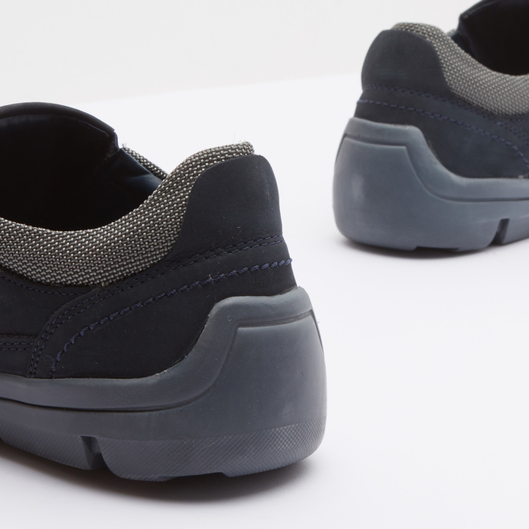 Panelled Comfort Shoes with Slip-On Closure