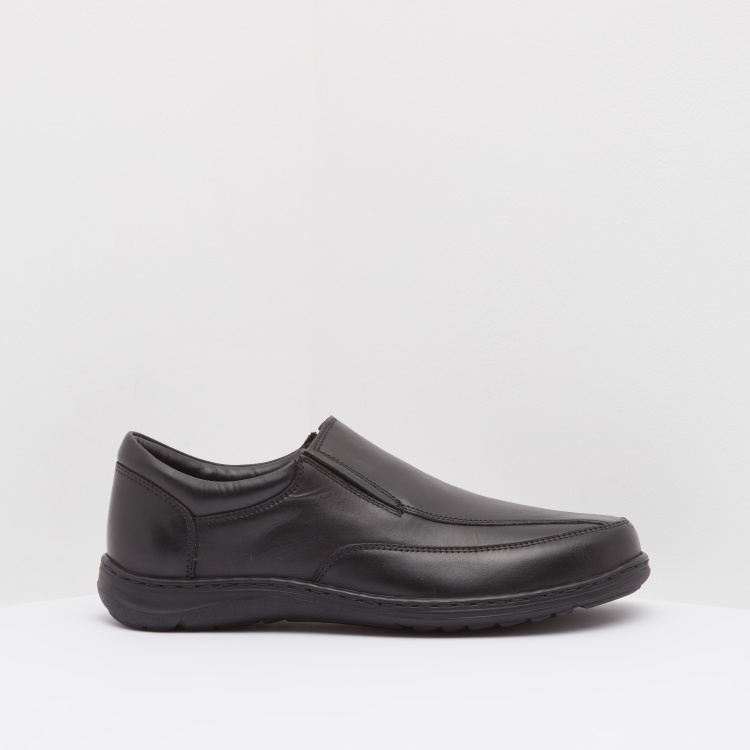Textured Formal Shoes with Slip-On Closure