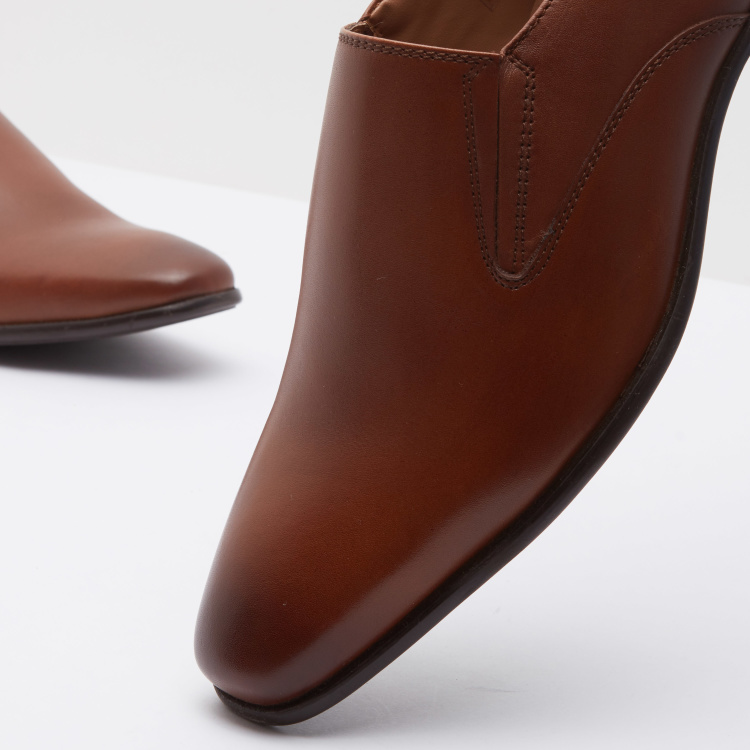 Panelled Formal Shoes with Slip-on Closure